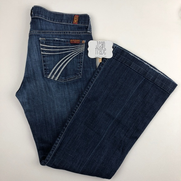 7 for all Mankind Denim - 7 For All Mankind Dojo Flare Jean 30x29